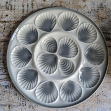 Load image into Gallery viewer, Set of Six Grey and White Belgian Oyster Plates