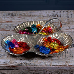 Silver Plated Scallop Serving Dish