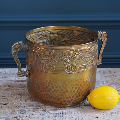Small Brass Detailed Ice Bucket