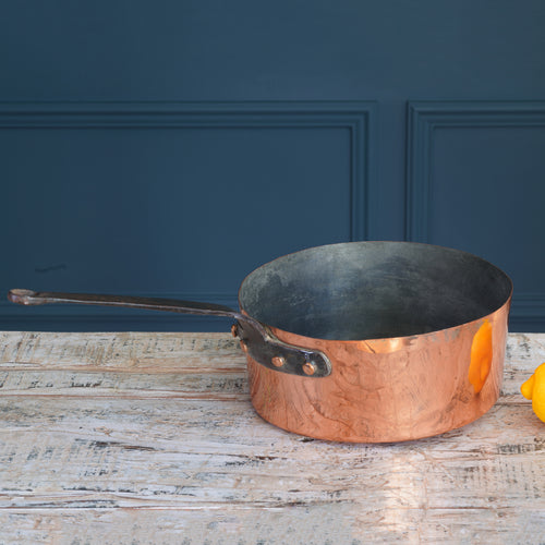 Small Copper and Cast Iron Saucepan