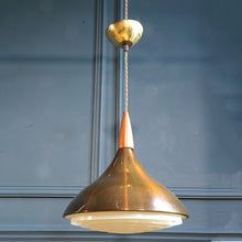 Load image into Gallery viewer, 1970s Brown Perspex Pendant Light
