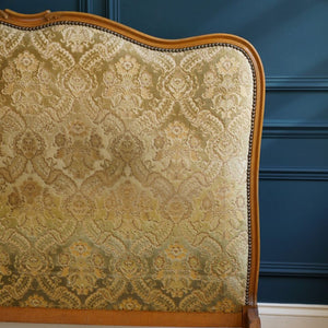 Green Velvet Jacquard Double Bed