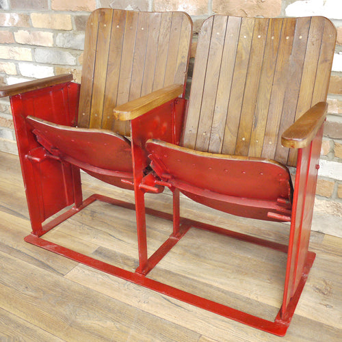 Pair of Vintage Cinema Seats