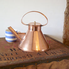 Load image into Gallery viewer, Vintage Copper Ship's Kettle