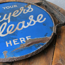 Load image into Gallery viewer, Vintage Double-Sided Enamel Sign - Player's Please