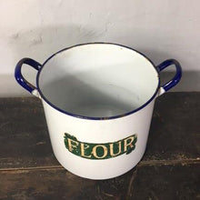 Load image into Gallery viewer, Vintage Enamel Flour Tin