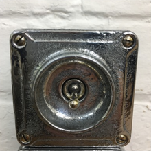 Load image into Gallery viewer, Vintage Metal Crabtree Conduit Light Switch