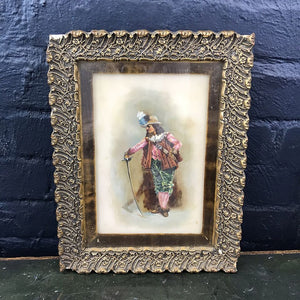 Vintage Painting - Cavalier on Porcelain