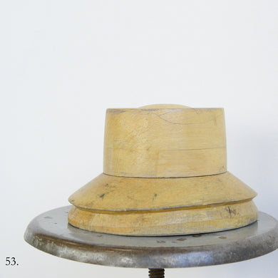 Wooden Factory Hat Form Circa 1930s-53