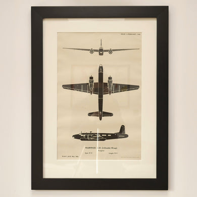 WWII aircraft recognition posters - Warwick C.III (2-Double Wasp)