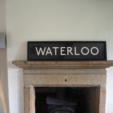 Framed Vintage Bus Blind - Waterloo