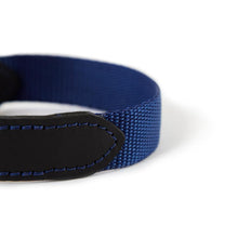 Load image into Gallery viewer, Leather & Webbing Collar - Navy