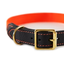 Load image into Gallery viewer, Leather & Webbing Collar-Orange-XL