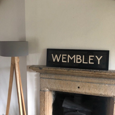 Framed Vintage Bus Blind - Wembley