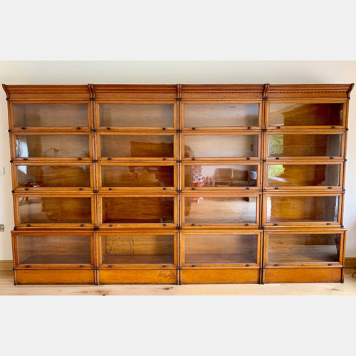 Four Matching Very Rare Wernicke Stacking Bookcases 1896-1899