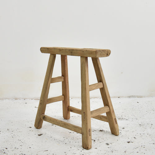 Wide Seat Shanxi Antique Elm Stool