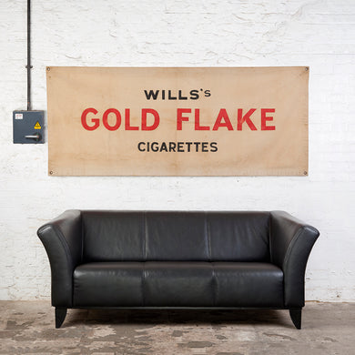 Will's Gold Flake Cigarettes Vintage Advertising Banner