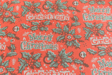 Load image into Gallery viewer, Vintage Original 1950s Christmas Wrapping Paper / Gift Wrap by the Metre