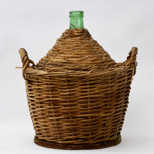 XL Vintage Wicker Jar