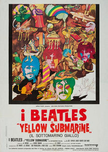 Yellow Submarine 1968 The Beatles original vintage Italian 2 sheet film movie poster