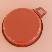 Load image into Gallery viewer, Vintage Small Shallow Terracotta Enamel Frying Pan