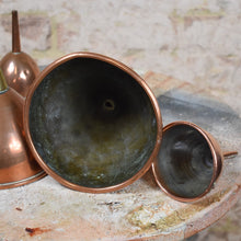 Load image into Gallery viewer, Antique Copper and Brass Funnels Sieves Kitchen