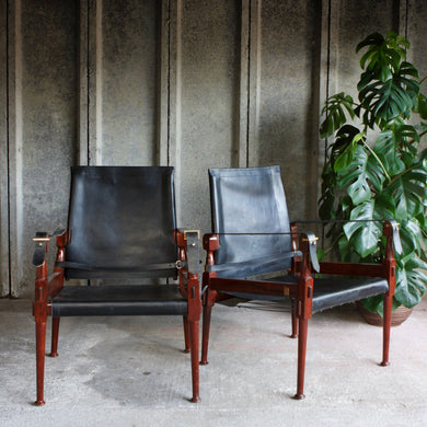Mid Century Campaign Chairs