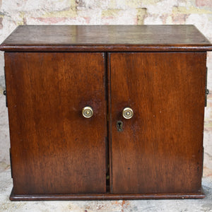 Antique Mahogany Coin Cabinet Collectors Cabinet Bank of Drawers