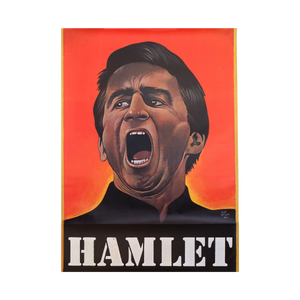 Original Hamlet Stage Theatre Play Poster 1975