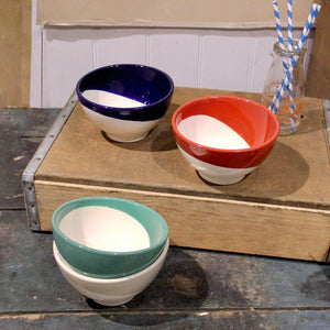 Classic Dipped Earthenware Cereal Bowls - Set of Four