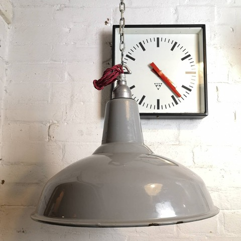 1950s Industrial Factory Light By Benjamin