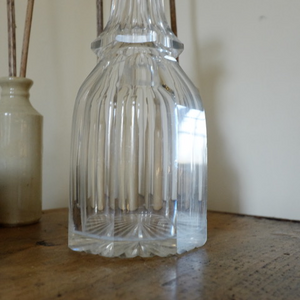 Vintage Heavy Cut Glass Decanter