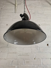 Load image into Gallery viewer, 1950s East German Enamel Factory Lights By LBD VEB Leuchtenbau Dresden