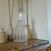 Load image into Gallery viewer, Vintage Heavy Cut Glass Decanter