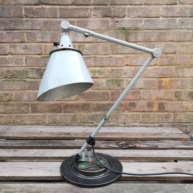 BAUHAUS Curt Fischer 1950s East German Medical Task Lamp By Midgard