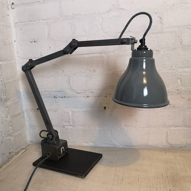 British Made 1950s MEMLITE Factory Task Lamp