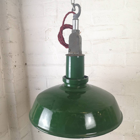 1950s Industrial Factory Light By Thorlux