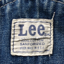 Load image into Gallery viewer, 1960s Vintage Union Made Lee Denim Dungarees - Medium/Large
