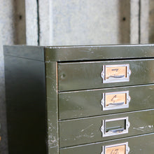 Load image into Gallery viewer, Vintage Metal Filing Drawers