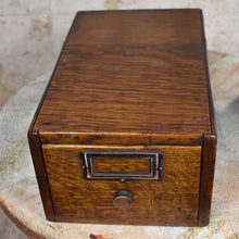 Load image into Gallery viewer, Antique Globe Wernike Single Index Filing Cabinet Drawer Oak Office Storage
