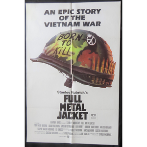 1987 Full Metal Jacket Film Poster