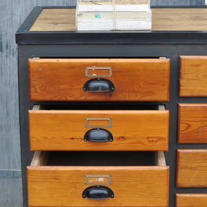 Vintage Industrial Multi Drawer Cabinet