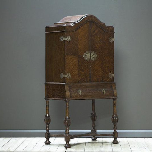 Oak Cocktail Cabinet Early 1900s