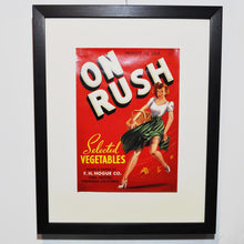 Load image into Gallery viewer, Original 1950s 'Pin Up' Vegetable Crate Label