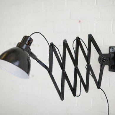 XL Industrial Scissor Lamp by Pehawe Circa 1930s