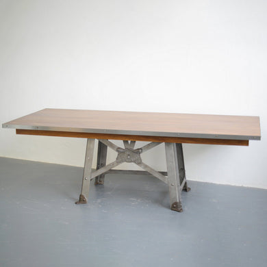Large English Industrial Table By Bentall Circa 1910