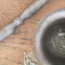 Load image into Gallery viewer, Antique Iron Pestle and Mortar