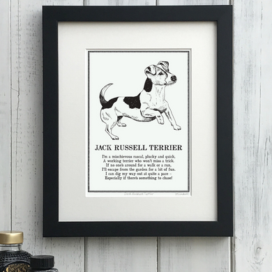 Jack Russell Terrier - Doggerel Print