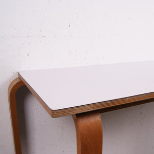 Children's Esavian table with formica top and curved wooden legs