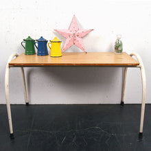 Load image into Gallery viewer, Children's small white metal legged table